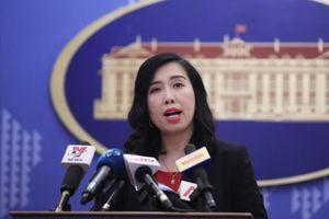 Việt Nam yêu cầu Trung Quốc rút ngay nhóm tàu vi phạm và không để tái diễn tình trạng tương tự
