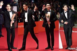 Thảm đỏ 'LHP Busan 2019': Tài tử Jung Woo Sung đọ sắc Jung Hae In, Suho (EXO) và Jinyoung (Got7)