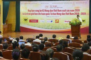Bình chọn danh hiệu 'Nông dân Việt Nam xuất sắc 2019'
