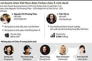 2 nữ doanh nhân Việt Nam được Forbes châu Á vinh danh