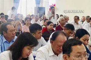 Chủ tịch Quốc hội Nguyễn Thị Kim Ngân tiếp xúc cử tri quận Ninh Kiều - thành phố Cần Thơ