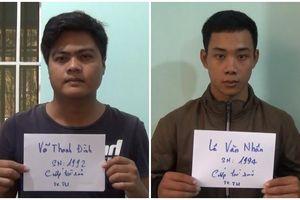 Tạm giữ hai đối tượng dùng dao cướp tài sản của lái xe taxi