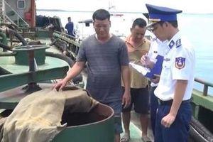 Tạm giữ tàu chở nửa triệu lít dầu không giấy tờ trên biển Vũng Tàu