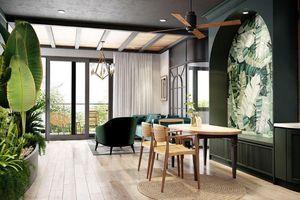 Mát mắt với căn hộ được thiết kế chủ đạo bằng tông màu xanh, gần gũi với thiên nhiên