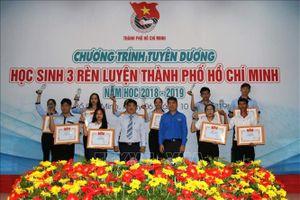 TP Hồ Chí Minh tuyên dương 37 gương điển hình 'học sinh 3 rèn luyện'
