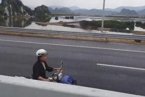 Rùng mình trước người phụ nữ đi ngược chiều trên đường cao tốc