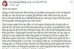 Lưu Hương Giang lên tiếng chuyện ly hôn, hàn gắn với Hồ Hoài Anh