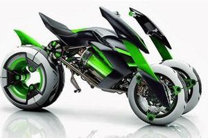 Kawasaki sắp trình làng Kawasaki J - siêu mô tô điện của tương lai