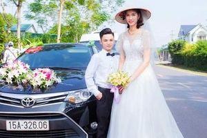 Hình ảnh đám cưới chú rể cao 1,4m, cô dâu 1,94m xôn xao mạng xã hội