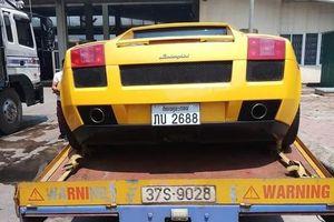 Siêu xe Lamborghini Gallardo biển số Lào xuất hiện tại Hà Tĩnh