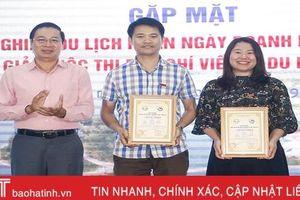 Báo Hà Tĩnh giành giải A Giải Báo chí viết về du lịch Hà Tĩnh năm 2019