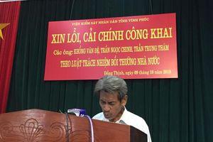 Viện KSND tỉnh Vĩnh Phúc xin lỗi công khai 3 người bị bỏ tù oan gần 40 năm