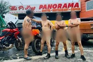 Hà Giang đang xác minh nhóm đàn ông khỏa thân đi xe phân khối lớn trên đèo Mã Pí Lèng