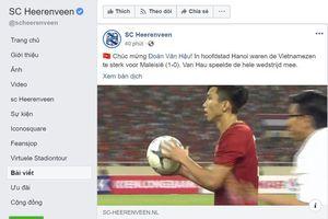 CLB Heerenveen khen ngợi Việt Nam quá mạnh so với Malaysia