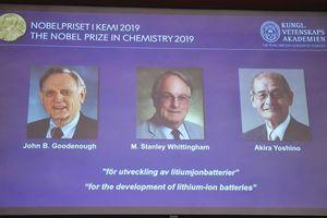 Nobel Hóa học 2019 vinh danh 3 nhà sáng chế pin lithium-ion