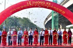Hà Nội thông xe đường vành đai 3.000 tỷ đoạn Mai Dịch - cầu Thăng Long