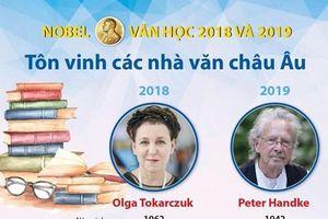 Nobel Văn học 2018 và 2019 tôn vinh các nhà văn châu Âu