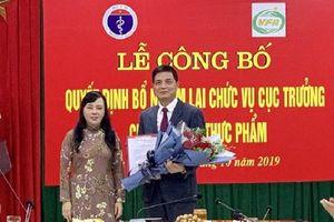 Ông Nguyễn Thanh Phong được bổ nhiệm lại chức Cục trưởng Cục An toàn thực phẩm