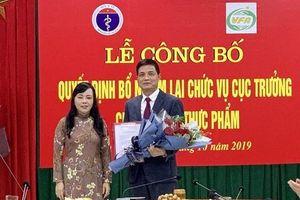 Phó Giáo sư Nguyễn Thanh Phong tiếp tục giữ chức Cục trưởng An toàn thực phẩm