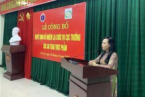 PGS.TS Nguyễn Thanh Phong được bổ nhiệm lại Cục trưởng An toàn thực phẩm