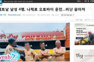Hình ảnh Hiếu Orion cùng 3 người đàn ông khỏa thân ở đèo Mã Pì Lèng lên báo Hàn Quốc