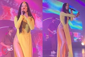 Nữ ca sĩ Mỹ mặc áo dài không quần từng gây nhiều tranh cãi