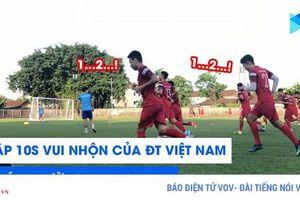 Clip: Bài tập 10 giây vui nhộn của ĐT Việt Nam trên đất Indonesia
