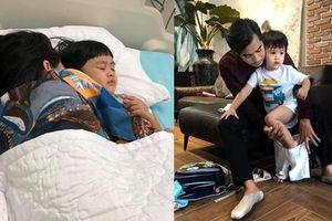 Ngọc Lan và Thanh Bình cùng cập nhật ảnh trong thời gian con ốm nhưng vô tình làm lộ chuyện không ở chung với nhau