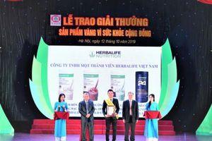 Herbalife nhận giải thưởng 'Sản phẩm vàng vì sức khỏe cộng đồng'