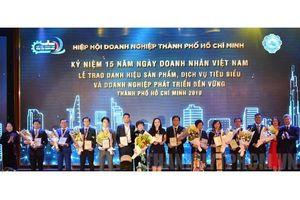 Lễ Tôn vinh 'Sản phẩm, dịch vụ tiêu biểu TP.HCM' năm 2019