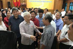 Tổng Bí thư, Chủ tịch nước Nguyễn Phú Trọng tiếp xúc cử tri Hà Nội trước kỳ họp Quốc hội