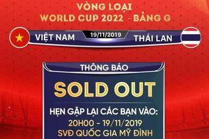 6 vạn vé xem ĐT Việt Nam đã bán hết
