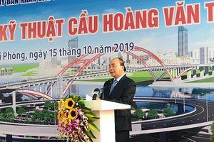Thủ tướng Nguyễn Xuân Phúc dự lễ thông xe cầu vòm nhịp lớn nhất Việt Nam