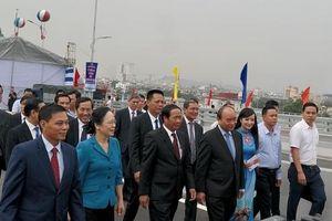 Thủ tướng Nguyễn Xuân Phúc dự lễ khánh thành cầu Hoàng Văn Thụ sau hơn hai năm khởi công