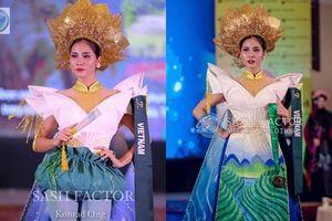 Quốc phục 'Liên chiến hoa' của Hoàng Hạnh giành huy chương đồng tại Miss Earth