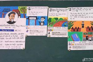 Bài Ngữ văn điểm 10 được trình bày theo giao diện facebook của học trò xứ Nghệ
