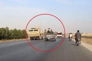 Binh sĩ Mỹ chạm trán bất ngờ với quân đội Syria trên đường rút lui