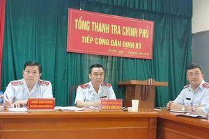 Phó Tổng Thanh tra Trần Văn Minh tiếp công dân xã Phổ Trạch