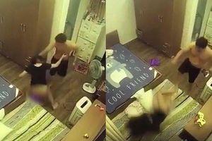 Kinh hoàng clip người phụ nữ bị chồng 'hờ' đánh đập dã man, đập phá đồ đạc vì nghi ngoại tình