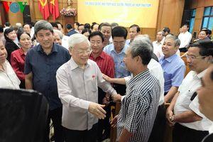 Hình ảnh: Tổng Bí thư, Chủ tịch nước tiếp xúc cử tri Hà Nội