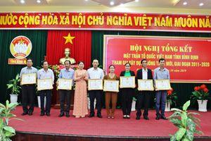 Hội nghị tổng kết MTTQ Việt Nam tỉnh Bình Định tham gia xây dựng nông thôn mới giai đoạn 2011-2020