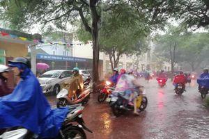 Nghệ An mưa lớn, hàng loạt trường thông báo cho học sinh nghỉ học