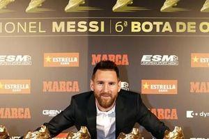 Nhận 'Chiếc giày vàng' thứ 6, Messi tri ân hai nhân vật đặc biệt