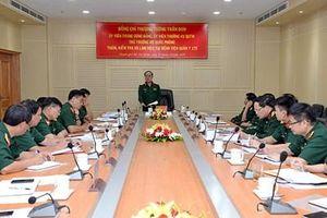 Thượng tướng Trần Đơn kiểm tra và làm việc tại Bệnh viện Quân y 175