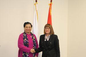 Phó Chủ tịch Quốc hội Tòng Thị Phóng hội kiến Chủ tịch Quốc hội Serbia