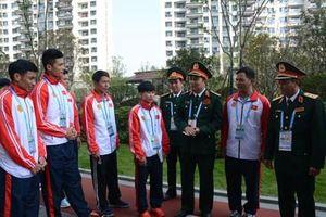Lãnh đạo Bộ Tổng Tham mưu thăm hỏi, động viên Đoàn Thể thao quân sự Việt Nam
