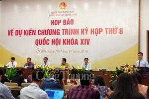 Kỳ họp thứ 8, Quốc hội khóa XIV: Dành 60% tổng thời gian cho công tác xây dựng pháp luật