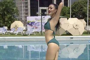 Da ngăm khỏe khoắn, Á hậu Kiều Loan gây ấn tượng trong phần thi bikini