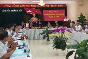 Công bố quyết định ông Nguyễn Khắc Định làm Bí thư Tỉnh ủy tỉnh Khánh Hòa