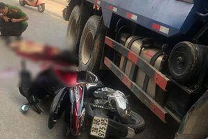 Va chạm với xe ben, nam thanh niên chết thảm dưới bánh xe